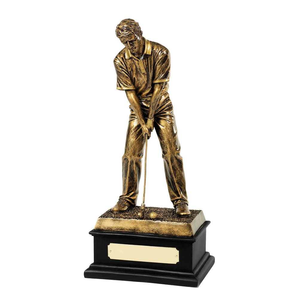 13 Inch Male Golfer Golf Resin Figure Award