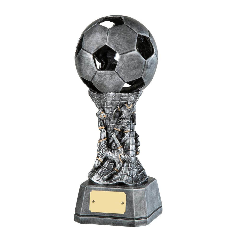 9 Inch Ball Net & Players Football Resin Award