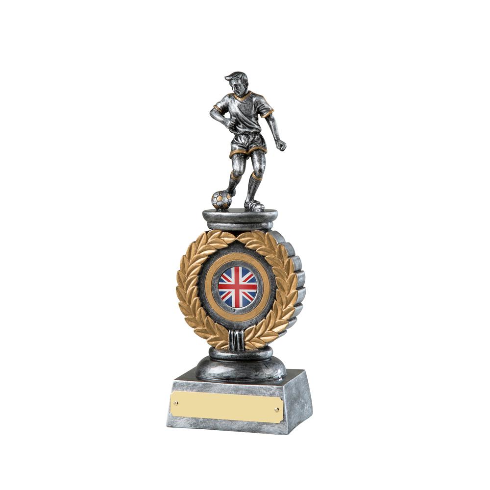 9 Inch Wreath Football Resin Figure Award