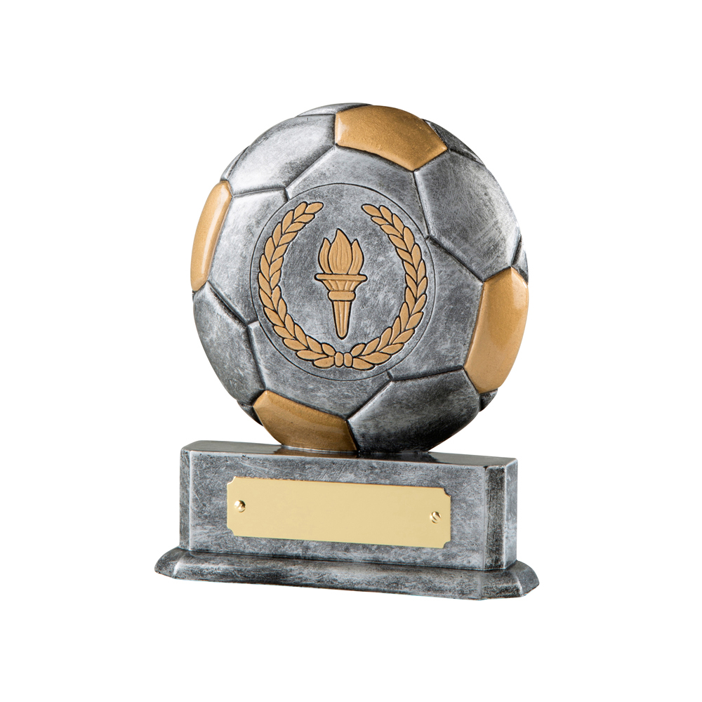 5 Inch Wreath & Torch Football Resin Award