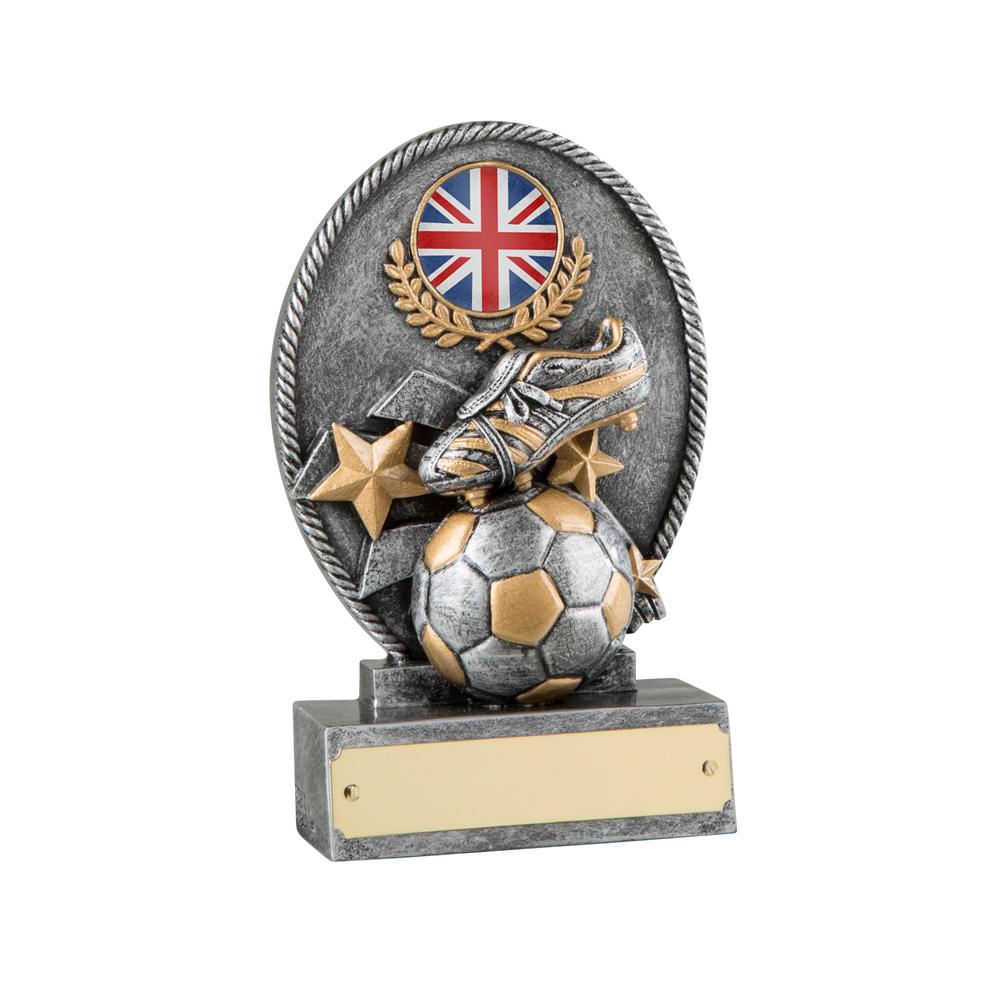 5 Inch Small Ball & Boot Football Resin Award