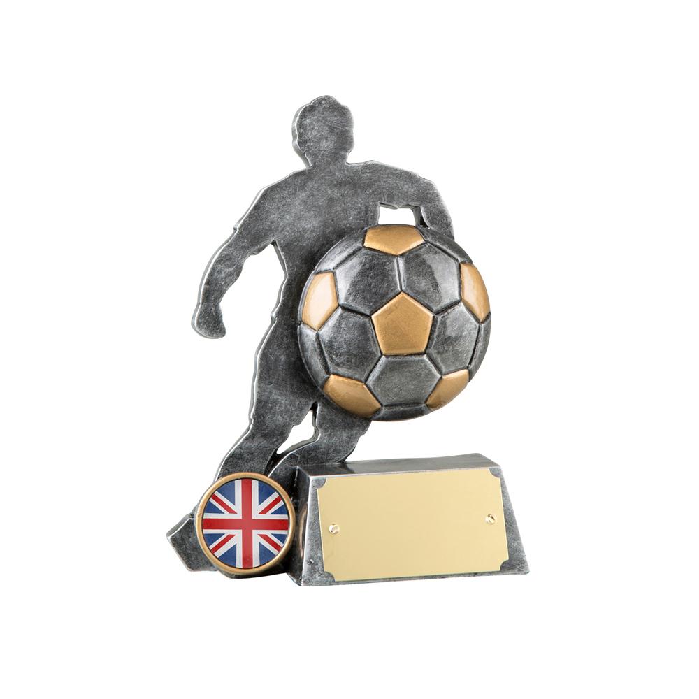 6 Inch Footballer Silhouette Football Resin Award