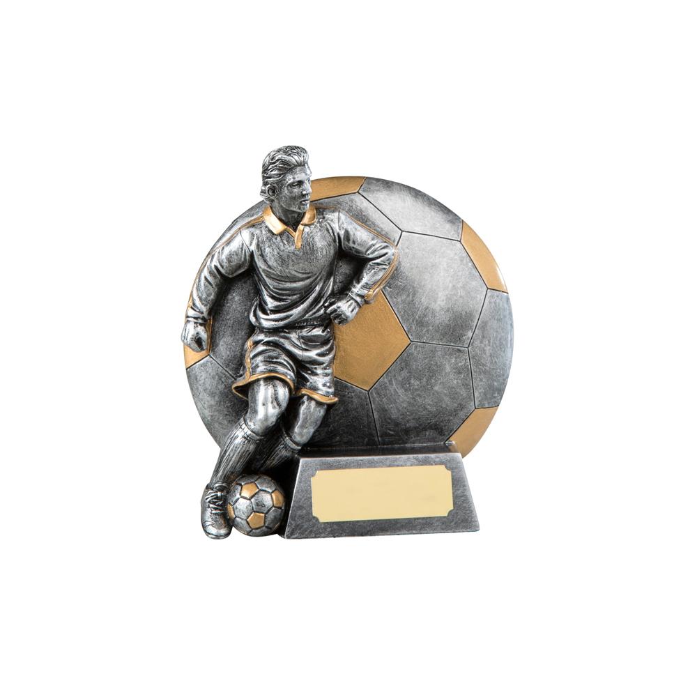 5 Inch Footballer & Ball Football Resin Award