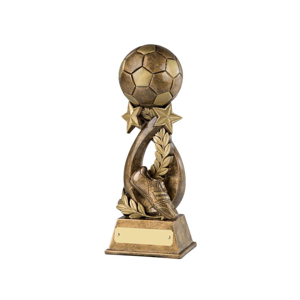 9 Inch Ball & Star & Boot Football Resin Sculpture