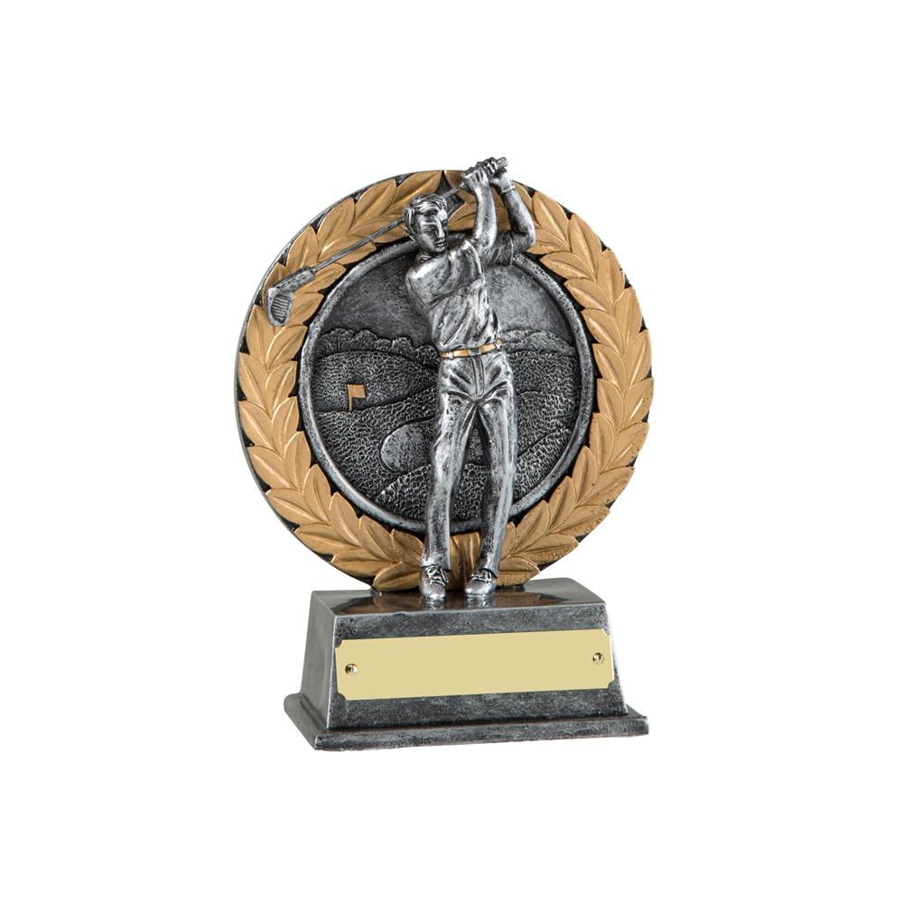 6 Inch Laurel Wreath Golf Resin Award
