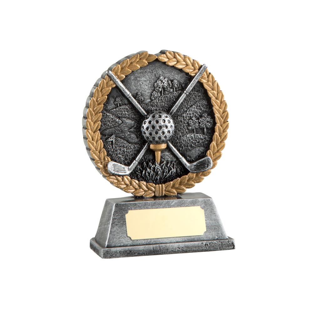 4 Inch Laurel Wreath Golf Resin Award