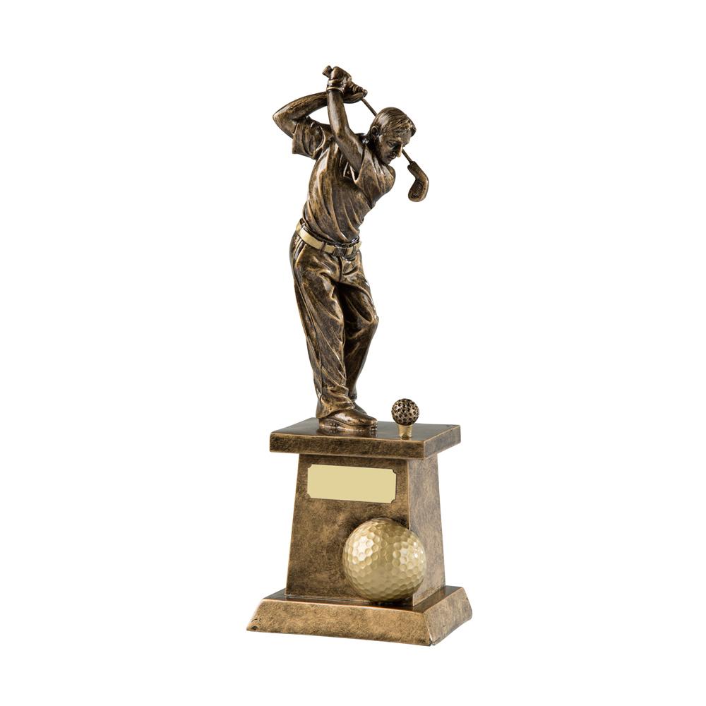 11 Inch Driver Golf Resin Figure Award