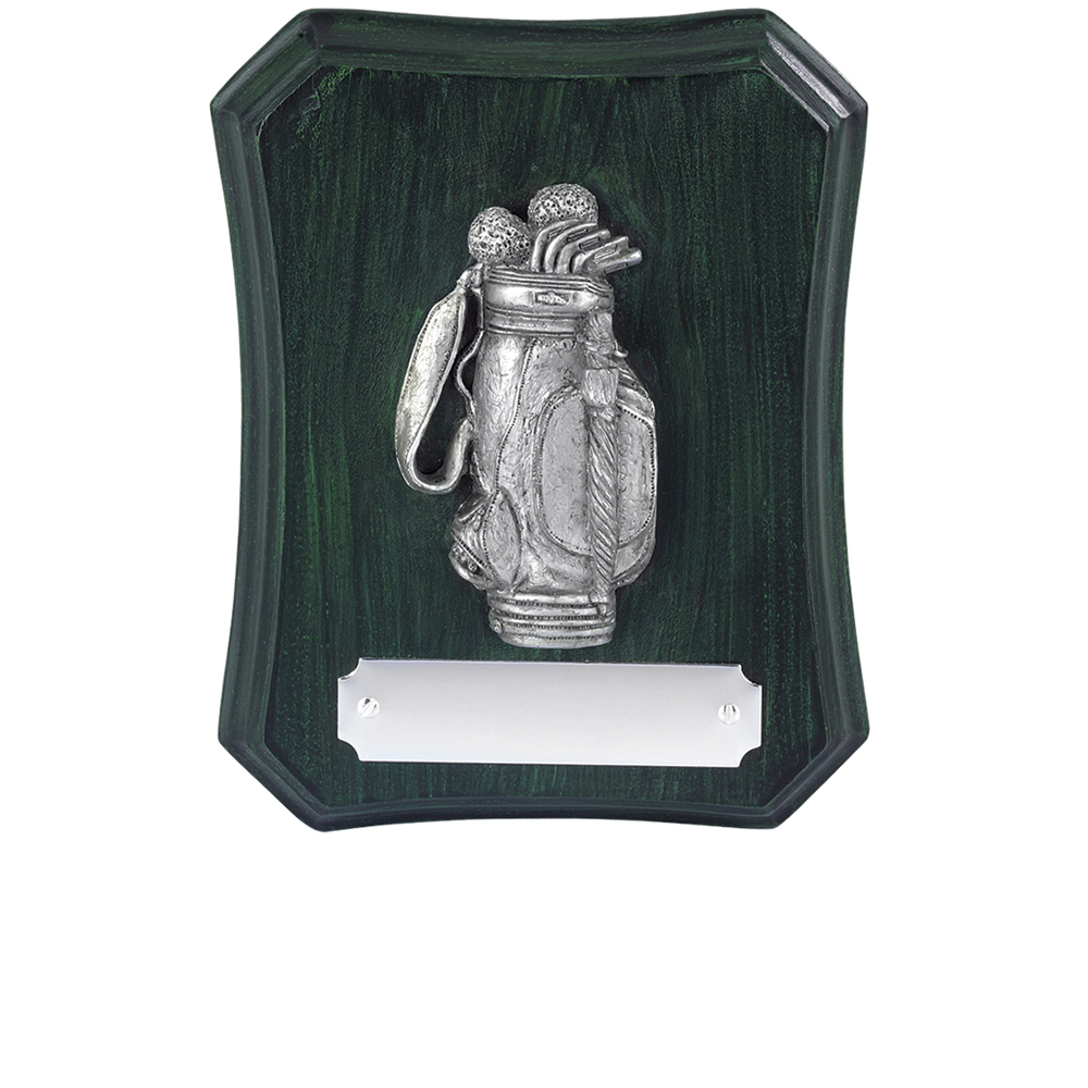 5 Inch Bag Golf Antiquity Plaque