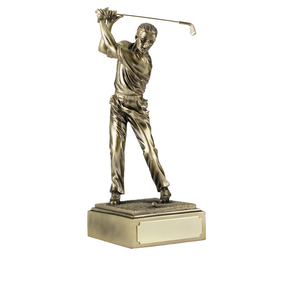 12 Inch Male Golfer Full Swing Golf Antiquity Figure Award