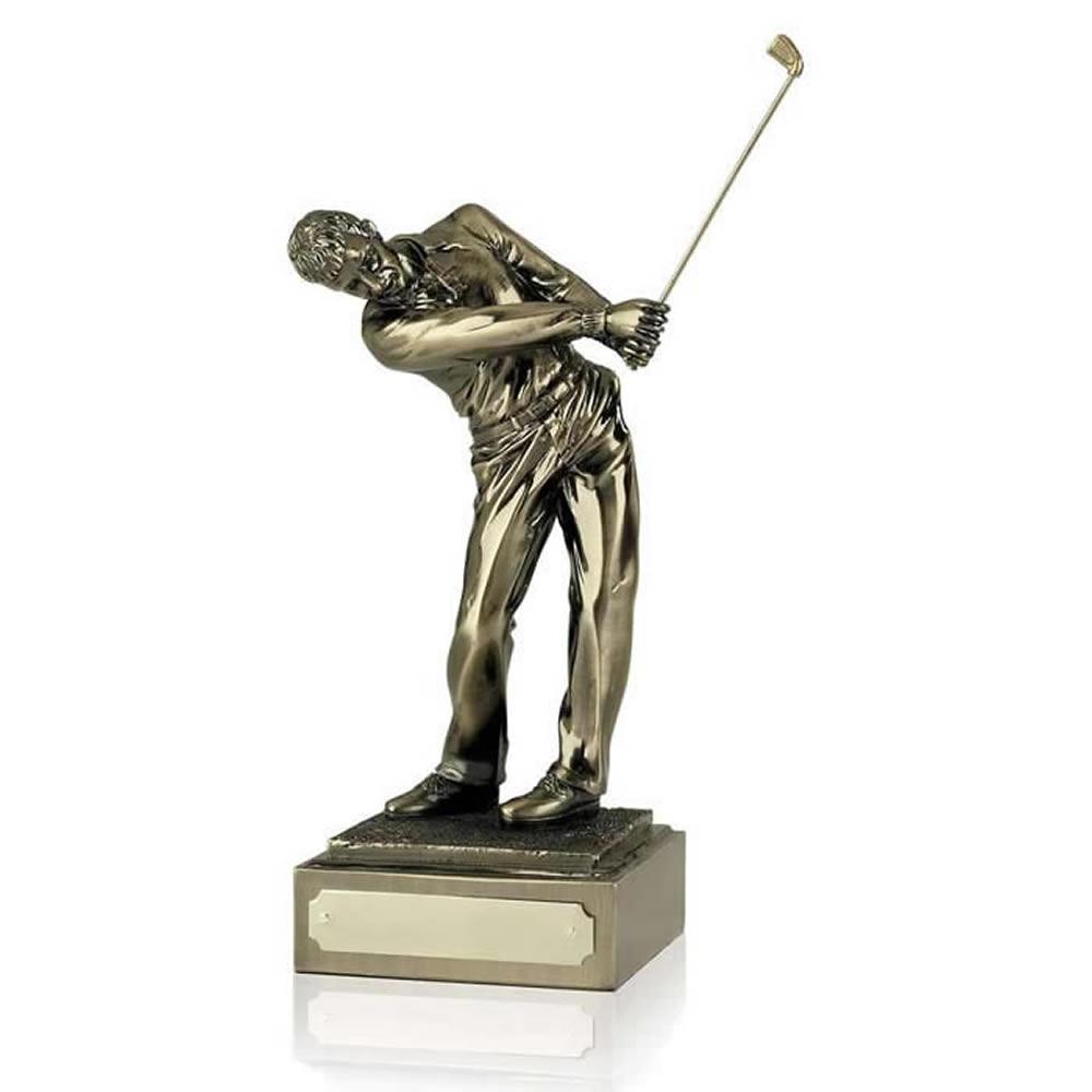10 Inch Follow Through Male Golf Antiquity Figure Award