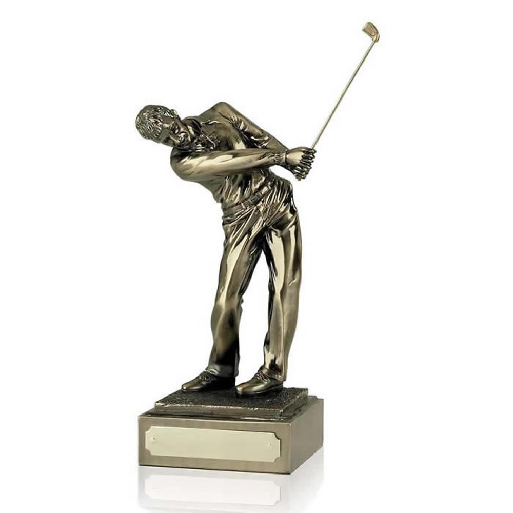 14 Inch Follow Through Male Golf Antiquity Figure Award