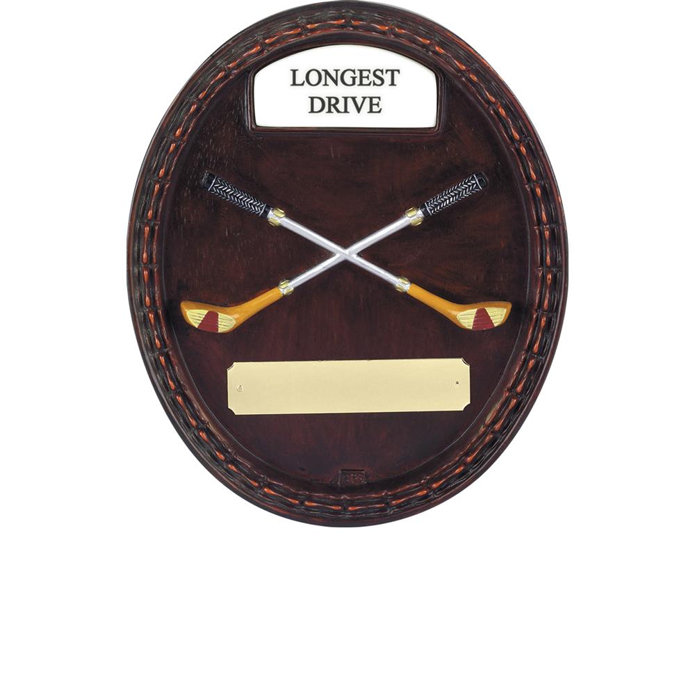 8 x 7 Inch Longest Drive Golf Fairways Plaque