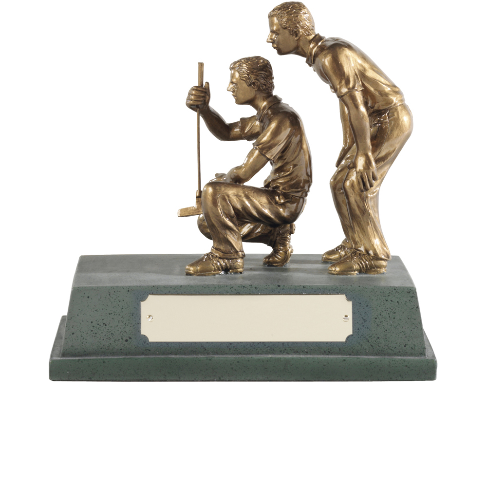 6 x 6 Inch Gold Partners Golf Signature Figure Award