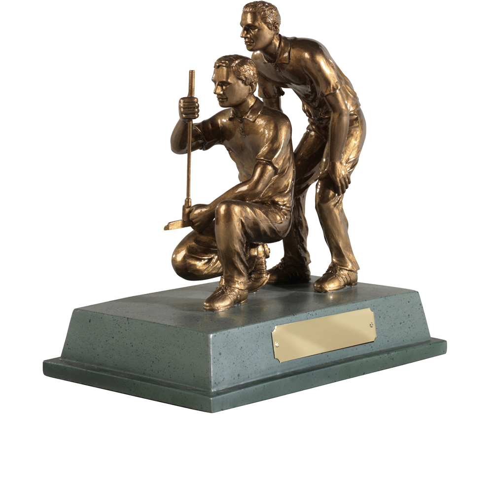 8 x 8 Inch Gold Partners Golf Signature Figure Award