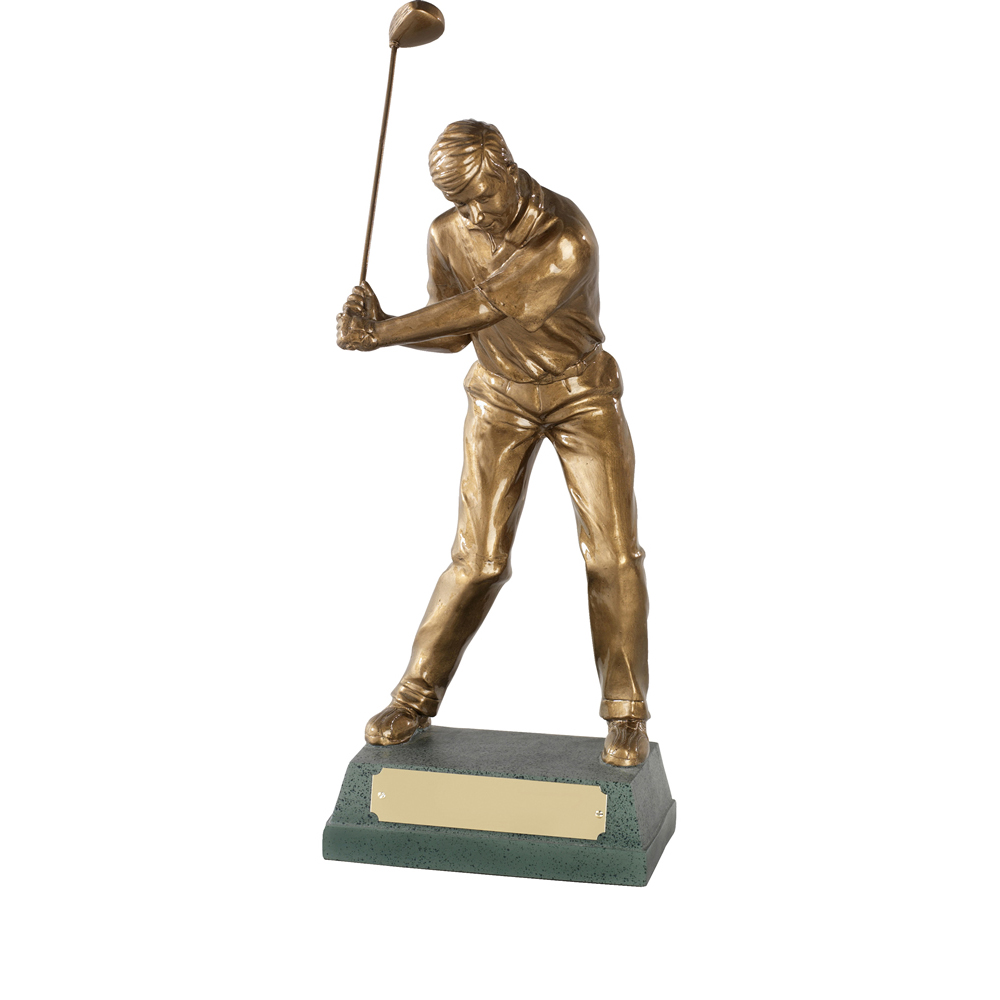 13 Inch Mid Swing Golf Signature Figure Award