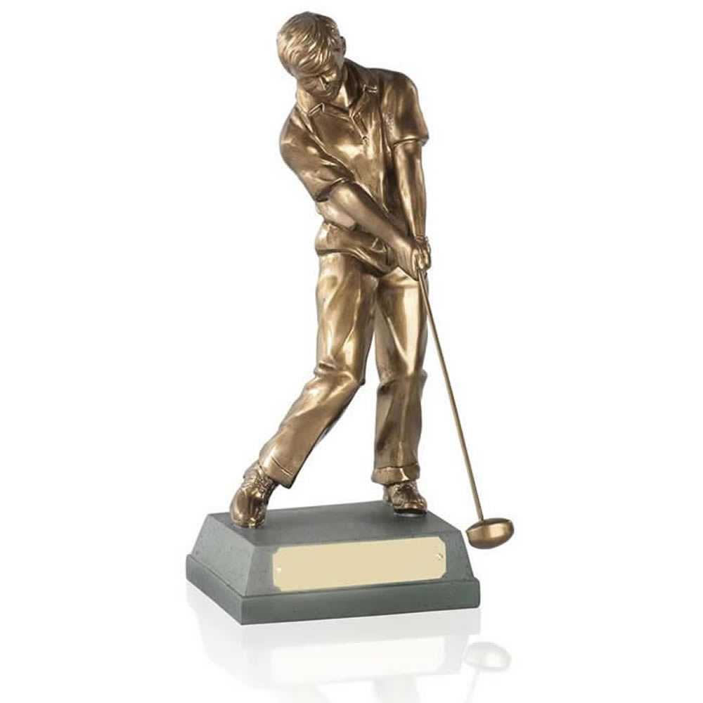 10 Inch Through Swing Golf Signature Figure Award