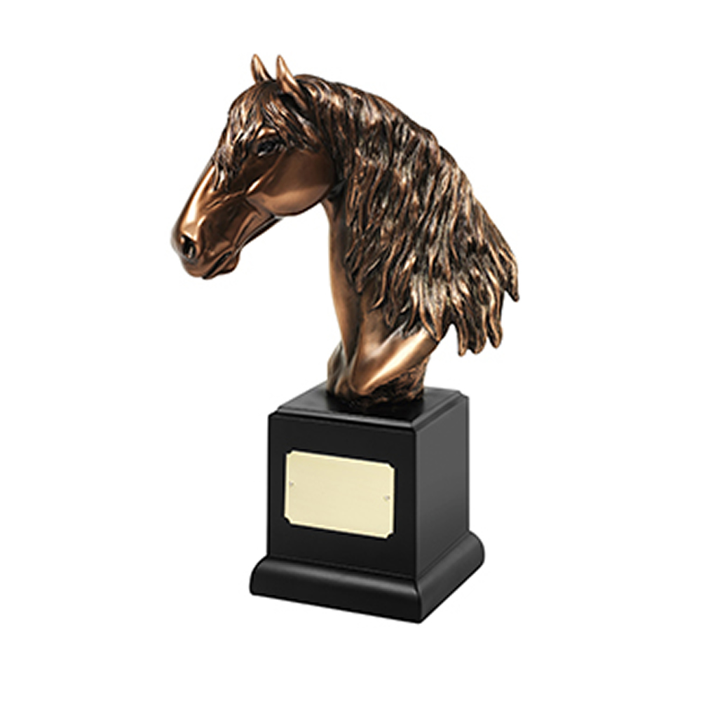 12 Inch Horse Head Equestrian Resin Sculpture