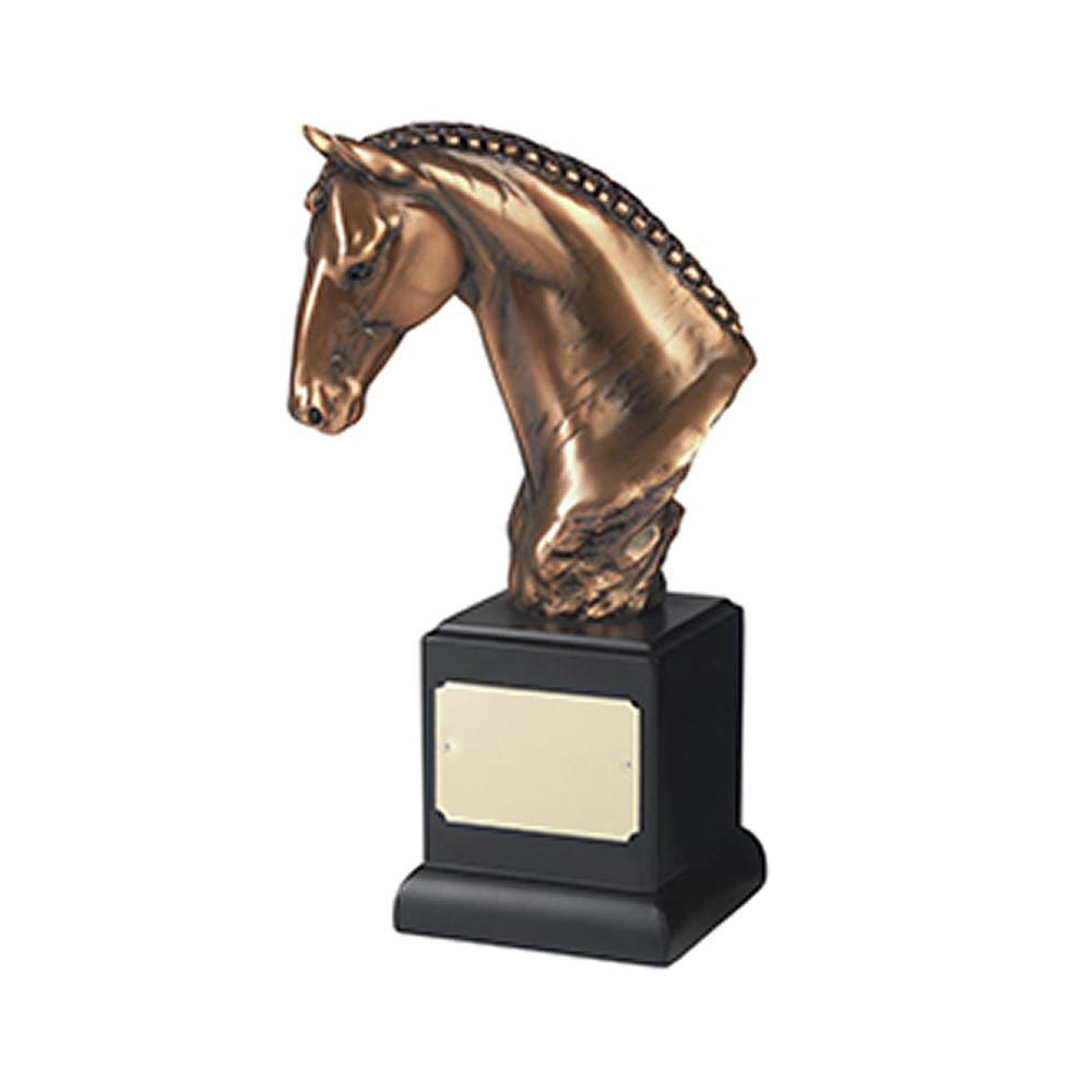 9 Inch Horse Head Equestrian Resin Sculpture