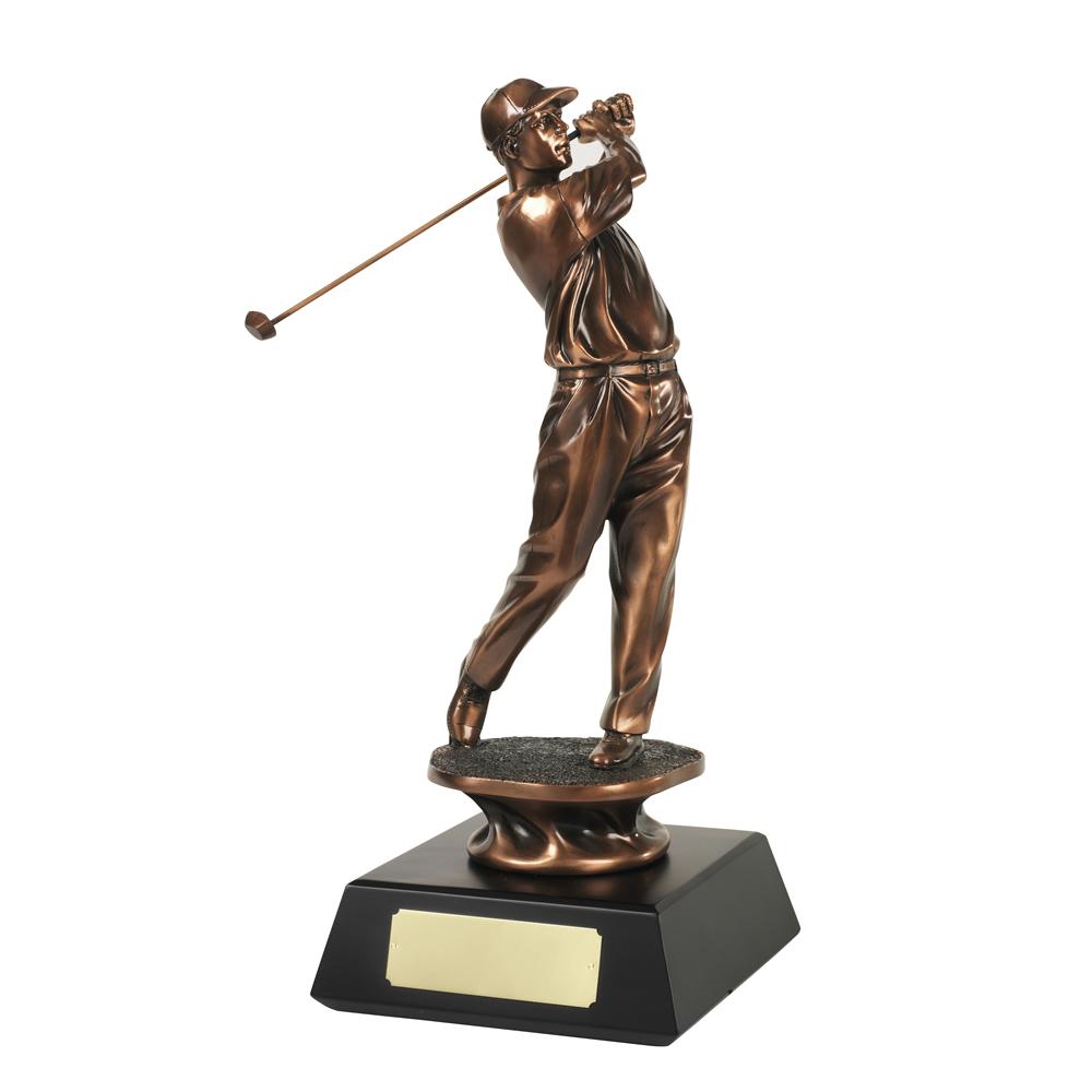 10 Inch The Golfer Golf Resin Figure Award