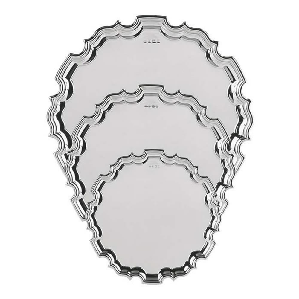 8 Inch Chippendale Sterling Tray