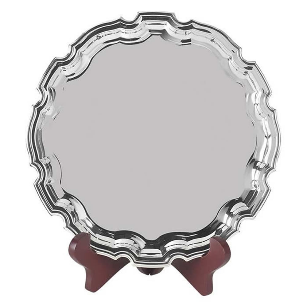 8 Inch Round Jaunlet Chippendale Tray