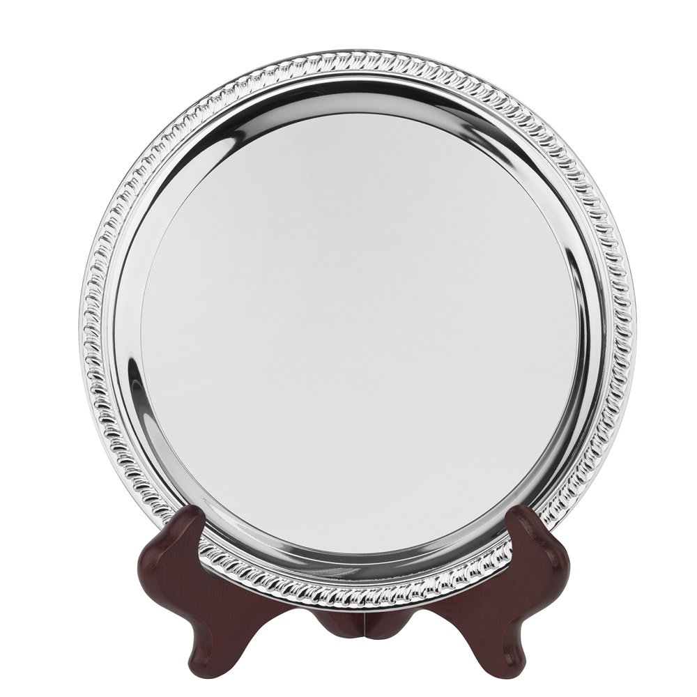 12 Inch Gadroon Edge Round Jaunlet Gadroon Tray
