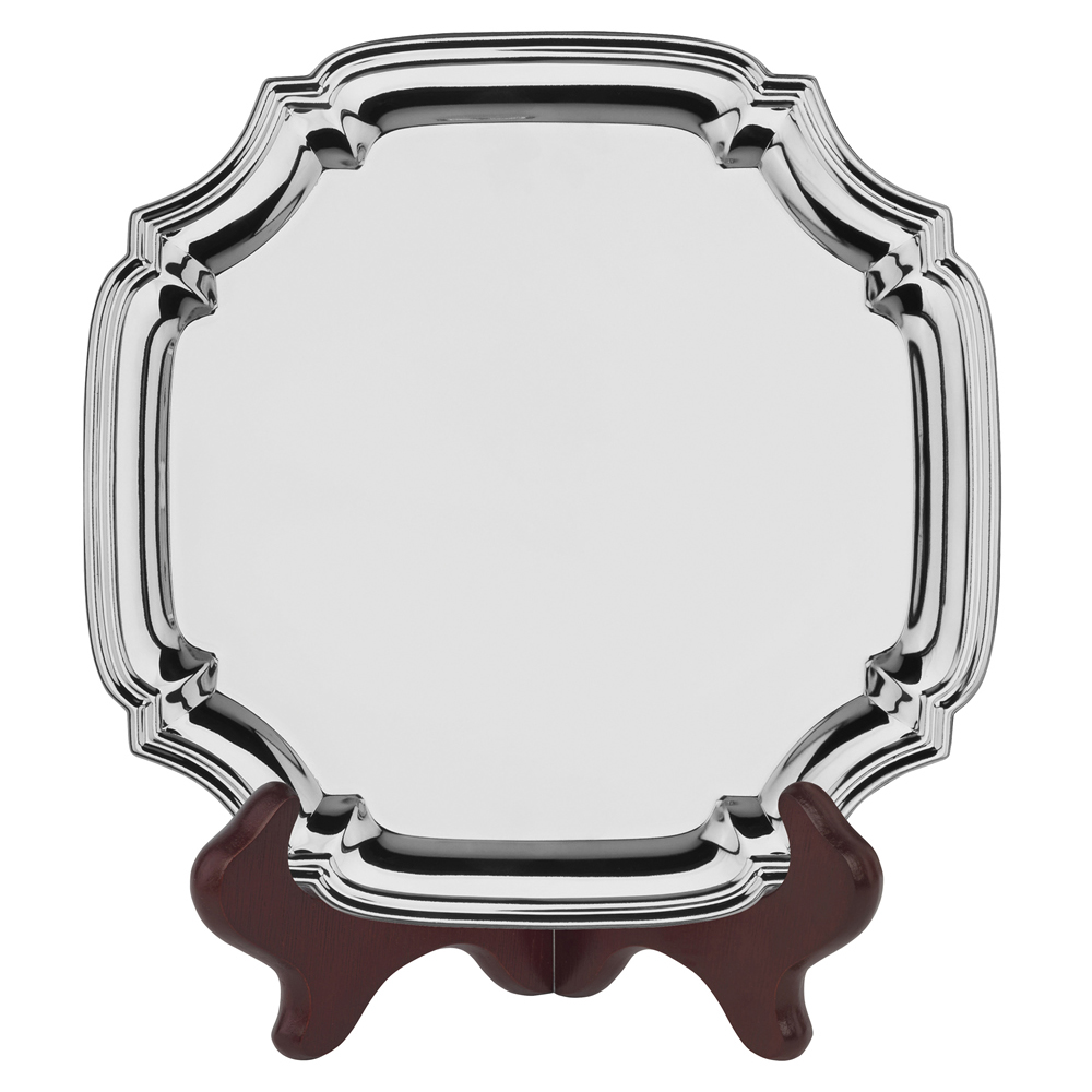 7 Inch Square Jaunlet Chippendale Tray