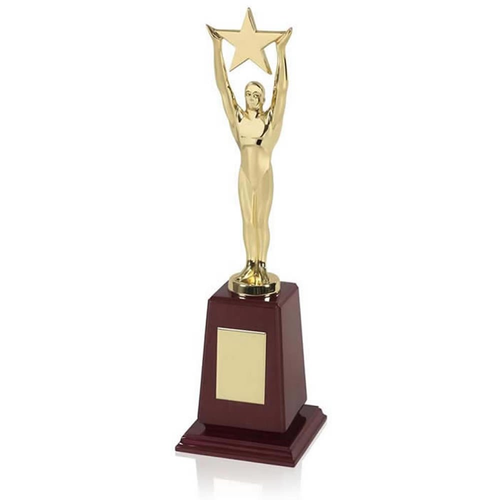 12 Inch Gold Plated Star Figure Achievement Award