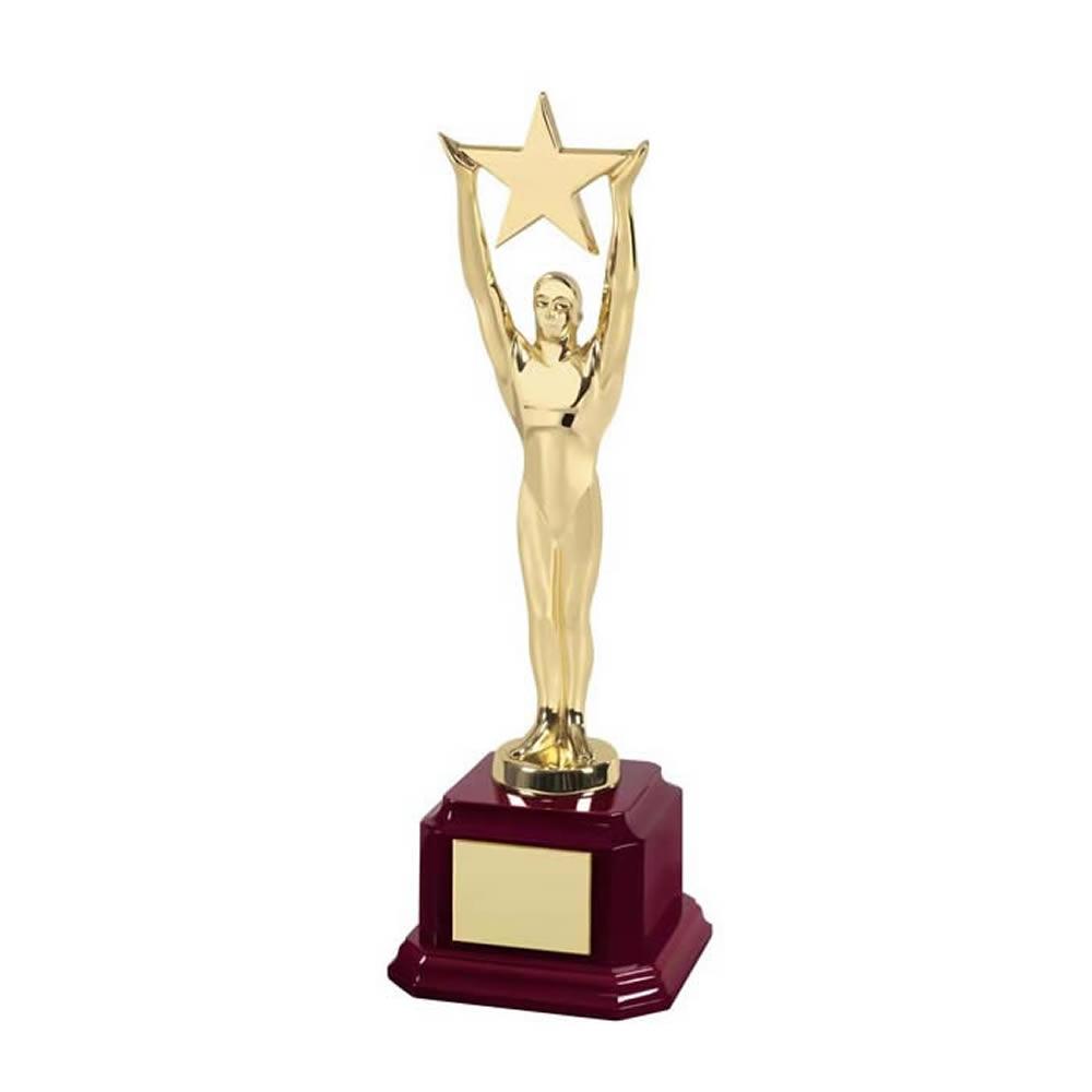 10 Inch Gold Finish Star Holder Hollywood Figure Award