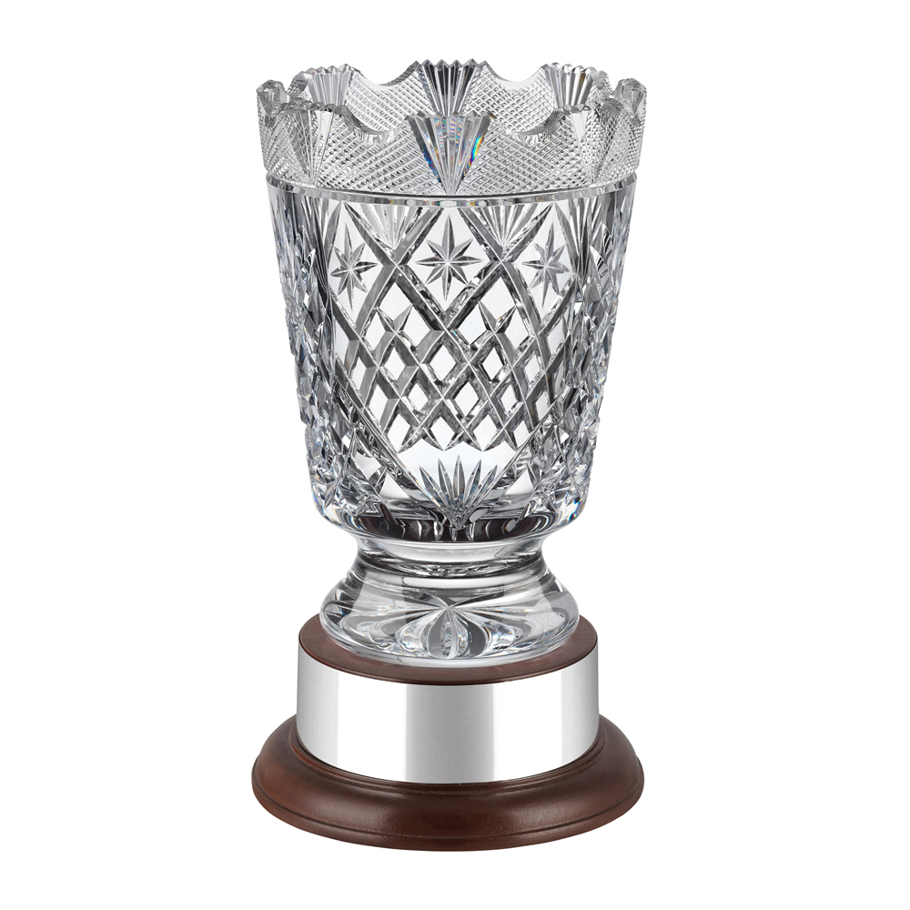 8 Inch Sophisticated Cask Heritage Crystal Vase