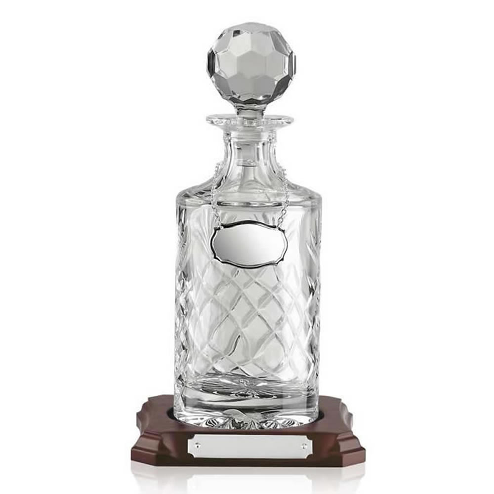Half Litre Round Hand Cut Crystal Decanter