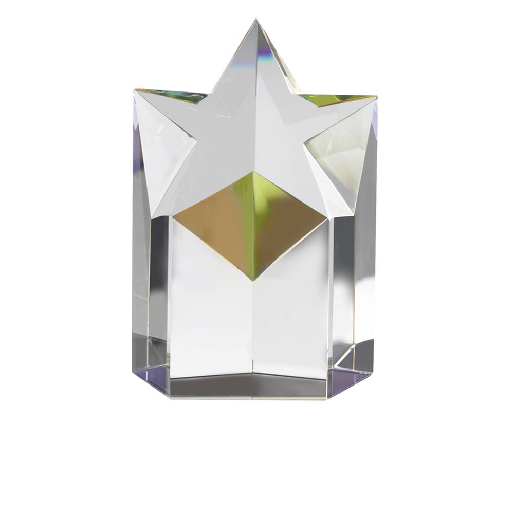 5 Inch Star Podium Optical Crystal Award