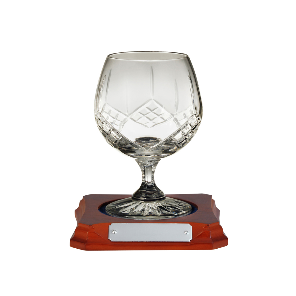 5 Inch Hand Cut Hand Cut Crystal Brandy Glass