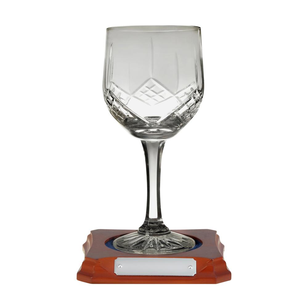 7 Inch Hand Cut Hand Cut Crystal Wine Goblet