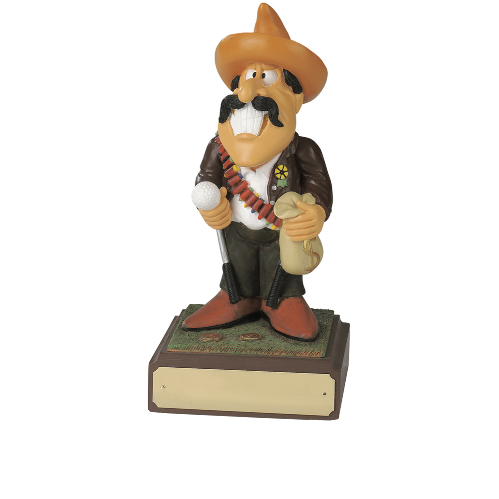 8 Inch Humorous Large Bandit Golf Heroes Award