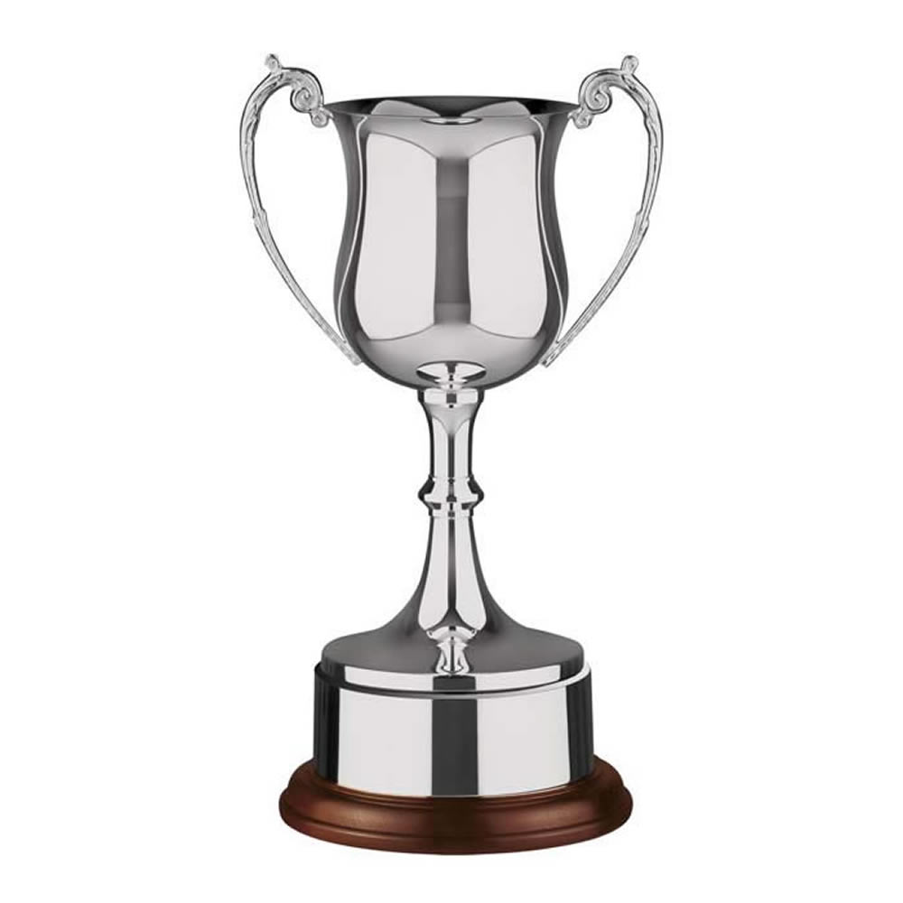 17 Inch Georgian Bowl & Wooden Base Hanover Trophy Cup