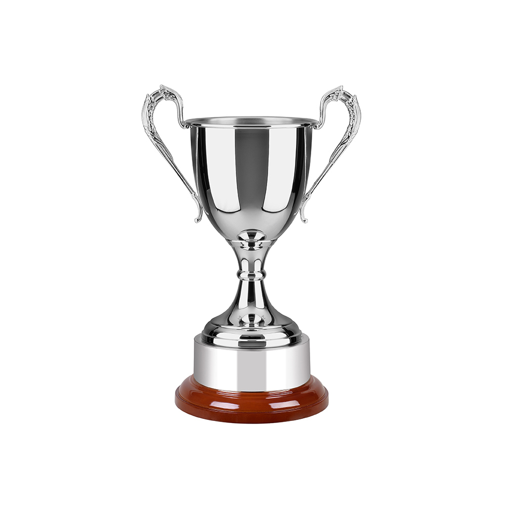 10 Inch Laurel Wreath Design Handles Warwickshire Trophy Cup