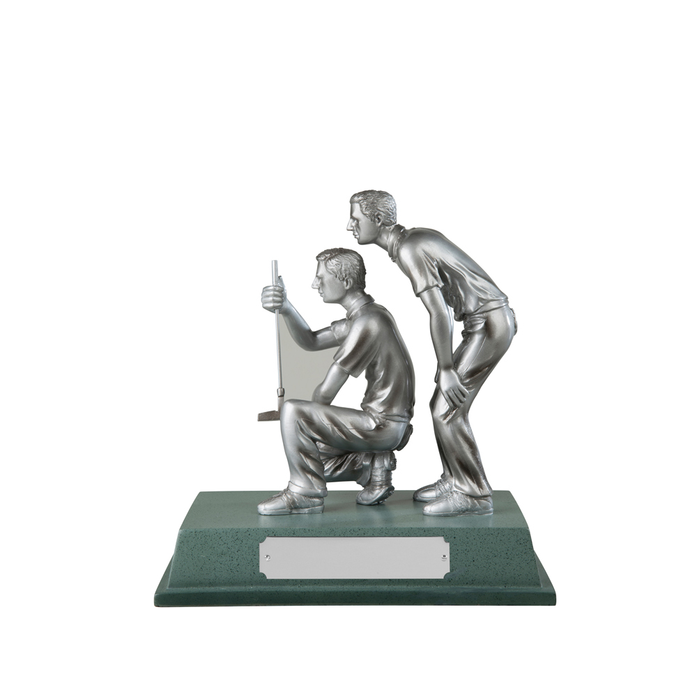 6 x 6 Inch Silver Partners Golf Signature Figure Award