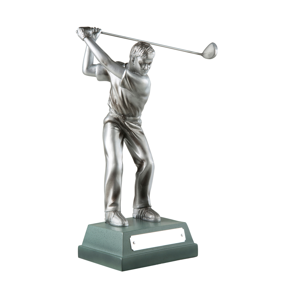 10 Inch Full Swing Male Golf Signature Figure Award