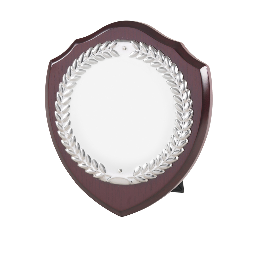 7 Inch Laurel Wreath Single Entry Jaunlet Shield