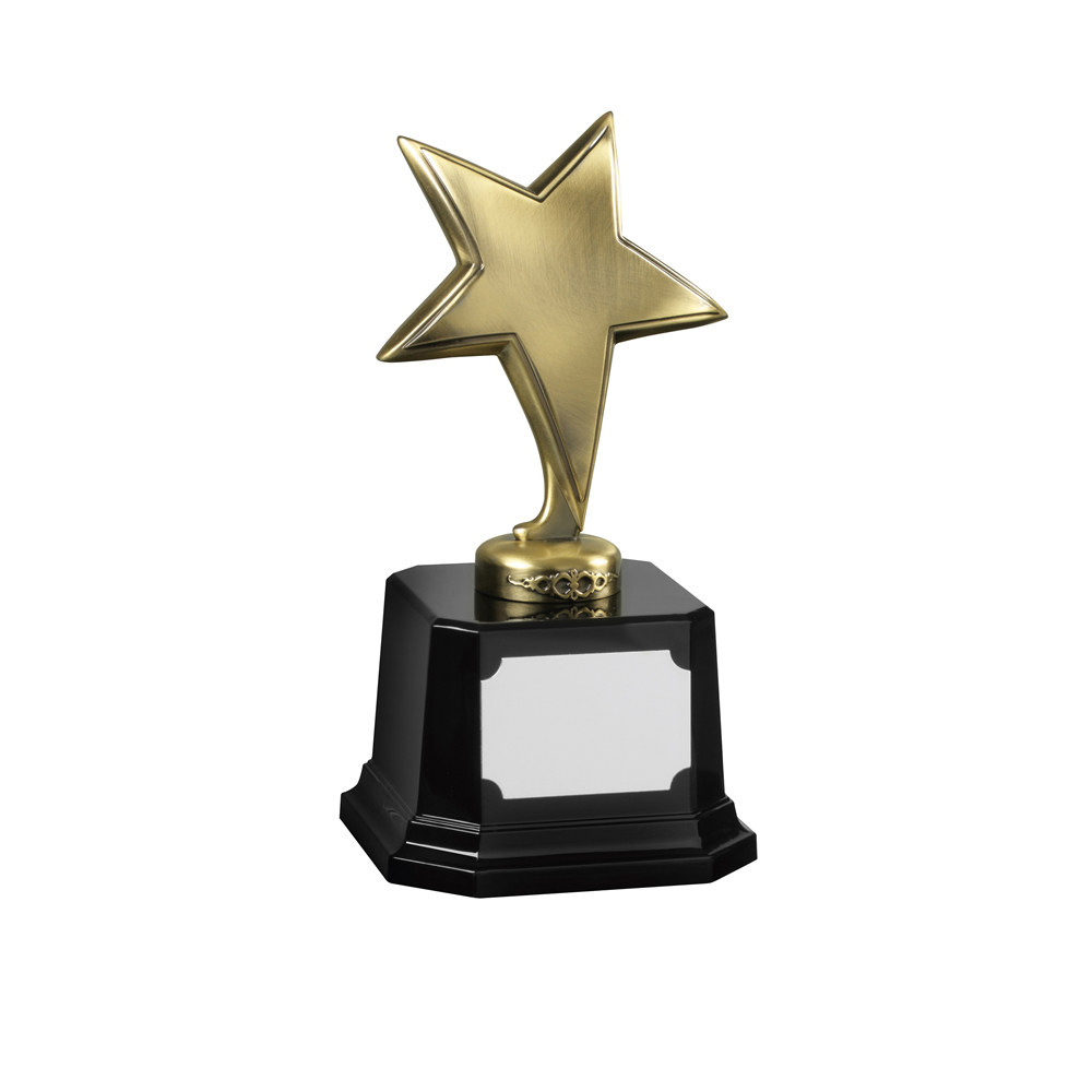 7 Inch Bright Finish Antique Gold Bestway Star Award