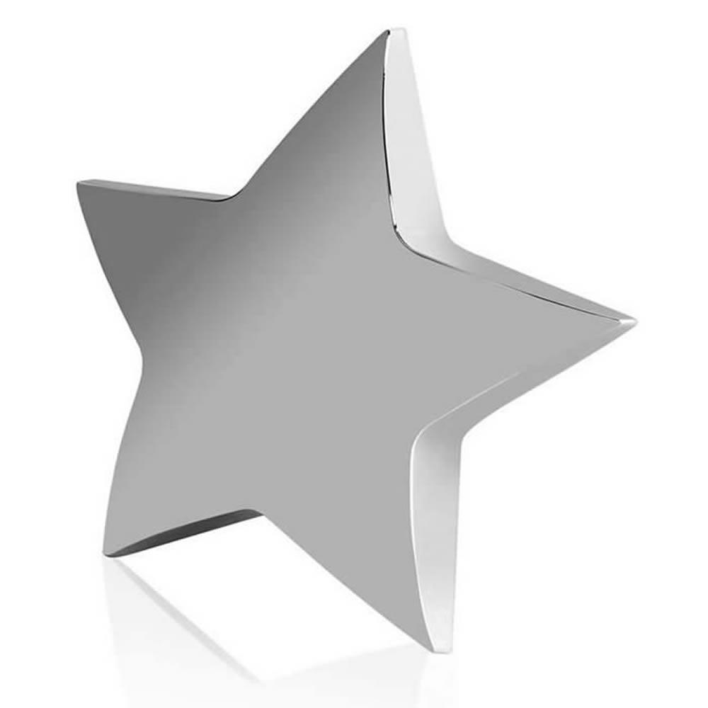 4 Inch Free Standing Silver Star Achievement Award