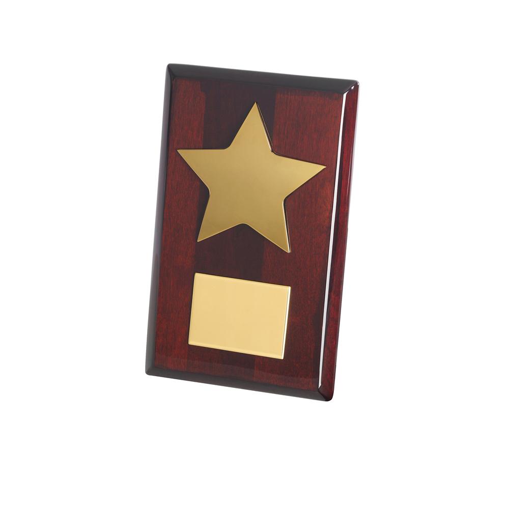 8 Inch Gold Finish Star Timezone Plaque