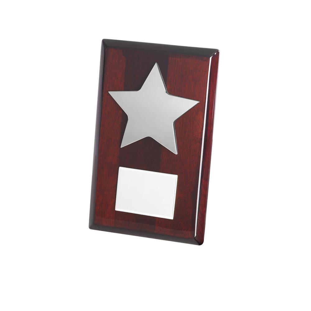 8 Inch Silver Finish Star Timezone Plaque