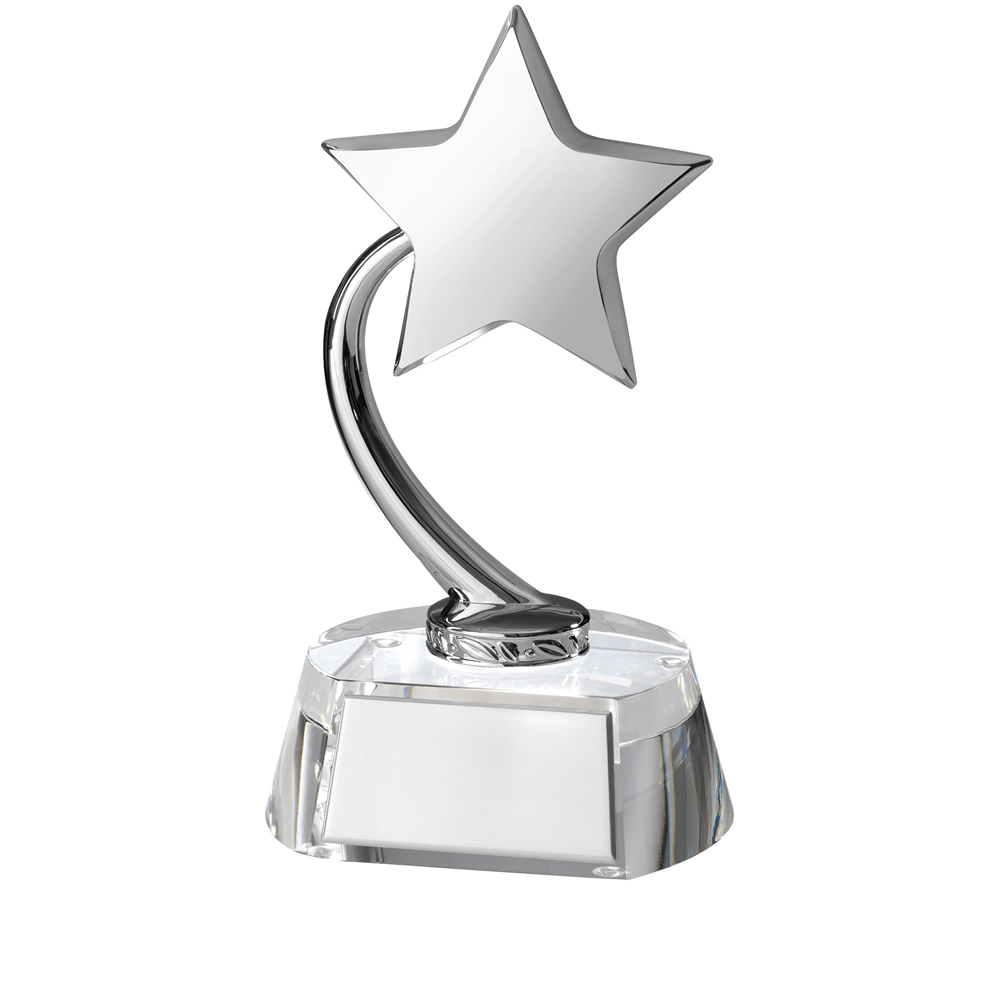 8 Inch Shooting Star With Plaque Timezone Award