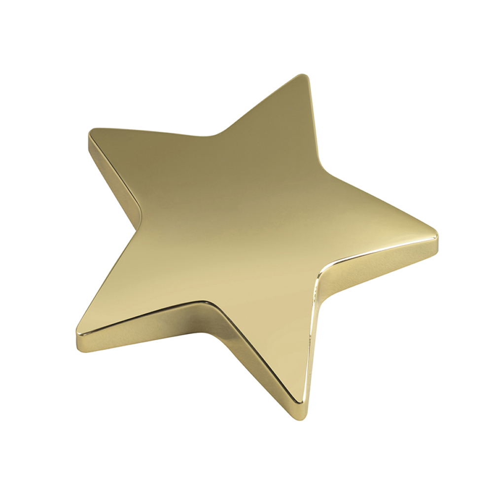 4 Inch Gold Star Bestway Paperweight