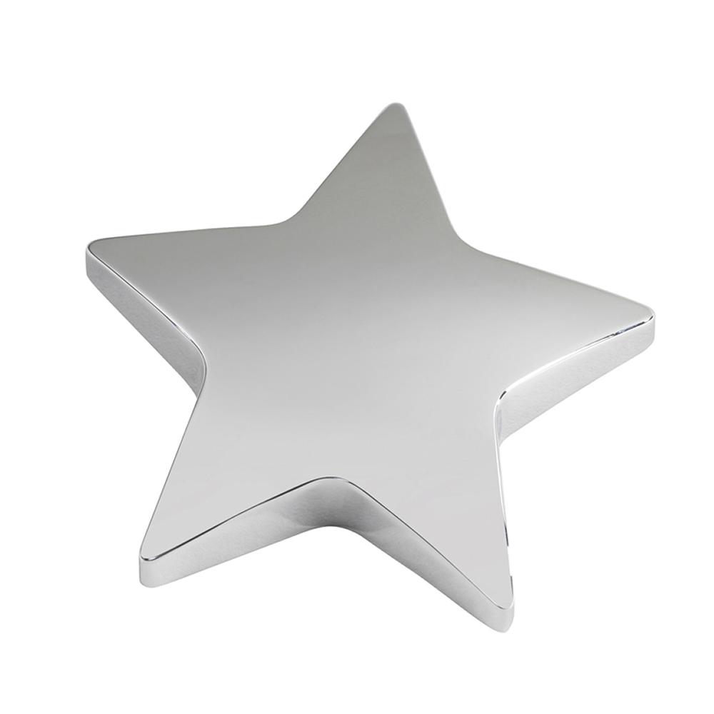 4 Inch Silver Star Bestway Paperweight