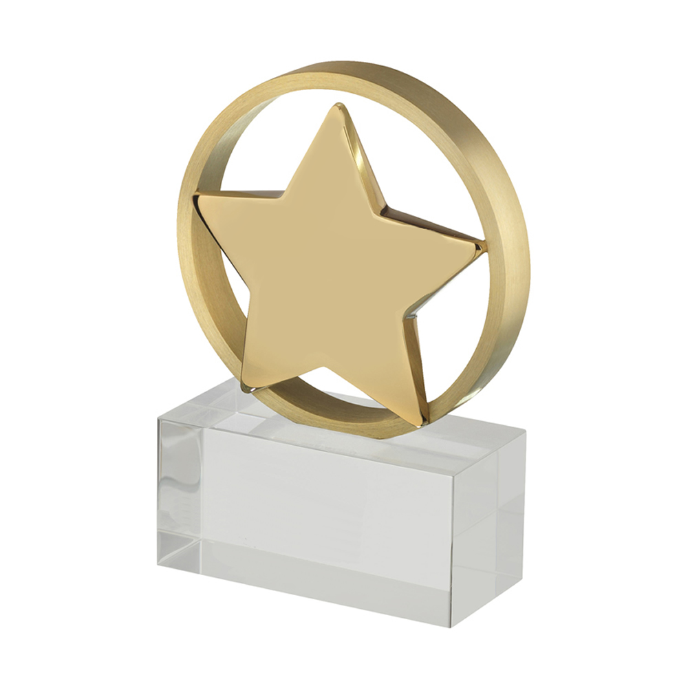 5 Inch Bordered Gold Star Timezone Award