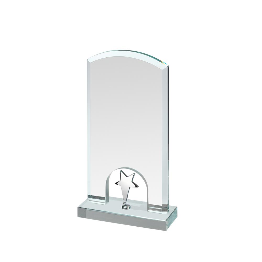 8 Inch Silver Star Under Arch Timezone Award