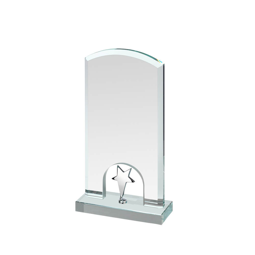 9 Inch Silver Star Under Arch Timezone Award